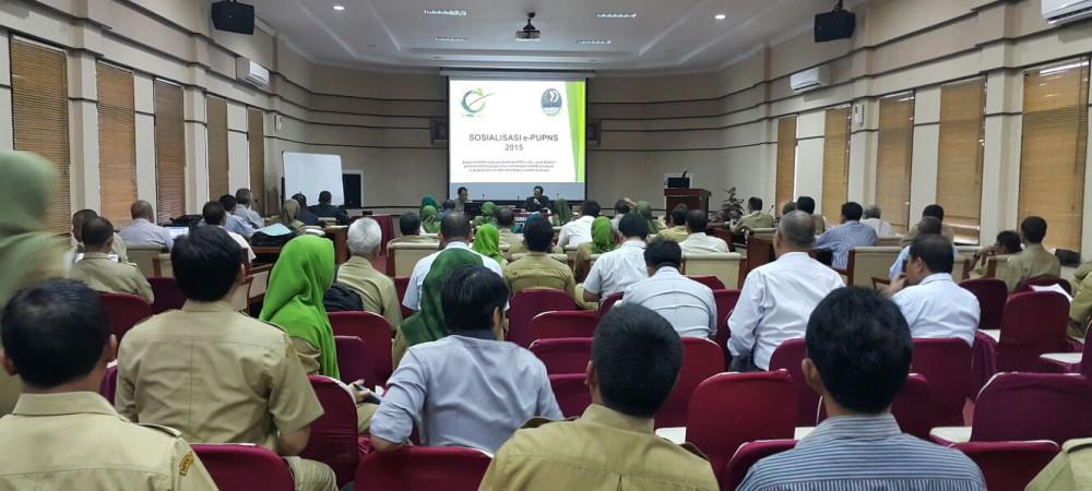 Sosialisasi e-PUPNS di lingkungan Inspektorat Provinsi Jawa Barat