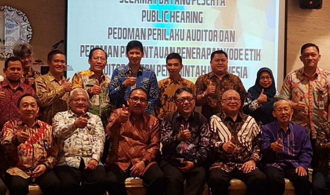 Pelaksanaan Public Hearing Pedoman Perilaku Auditor dan Pedoman Pemantauan Penerapan Kode Etik AAIPI