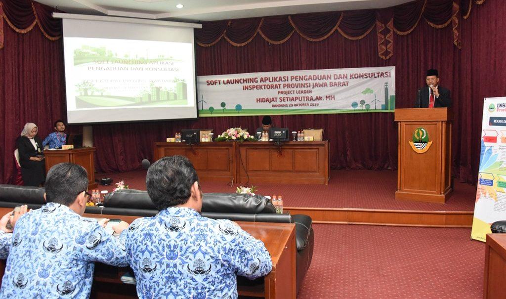 Soft Launching Aplikasi Pengaduan dan Konsultasi diresmikan oleh Sekda Jabar